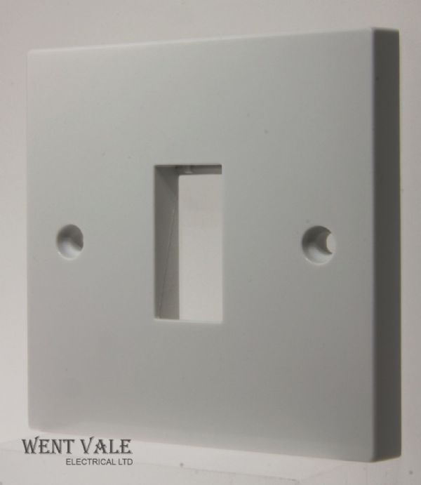Click Essentials WA401 - White Moulded 1 Gang 1 Module Minigrid Switch Plate New